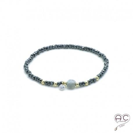bracelet femme labradorite