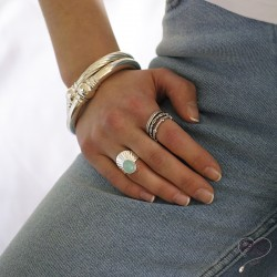 Bague pierre naturelle amazonite