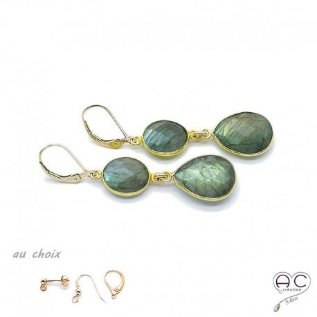 boucle d'oreille pierre semi precieuse