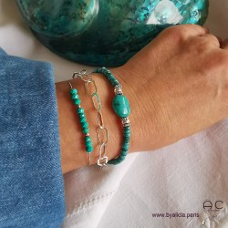 Bracelets turquoise, argent 925, création by Alicia