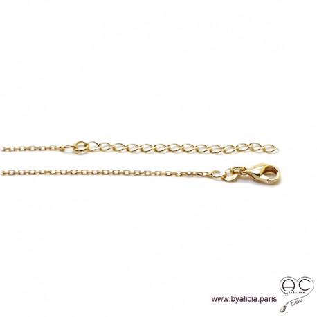 Chaîne fine en plaqué or avec maillons de rallonge