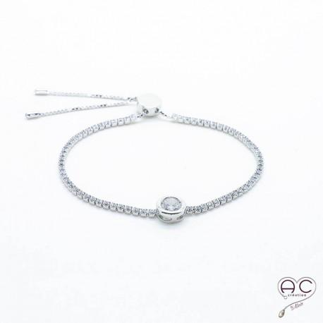 bracelet argent reglable femme