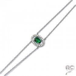 Bracelet argent 925 rhodié zirconium