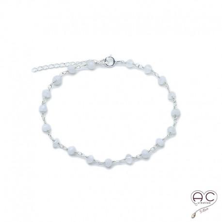 bracelet argent avec pierre